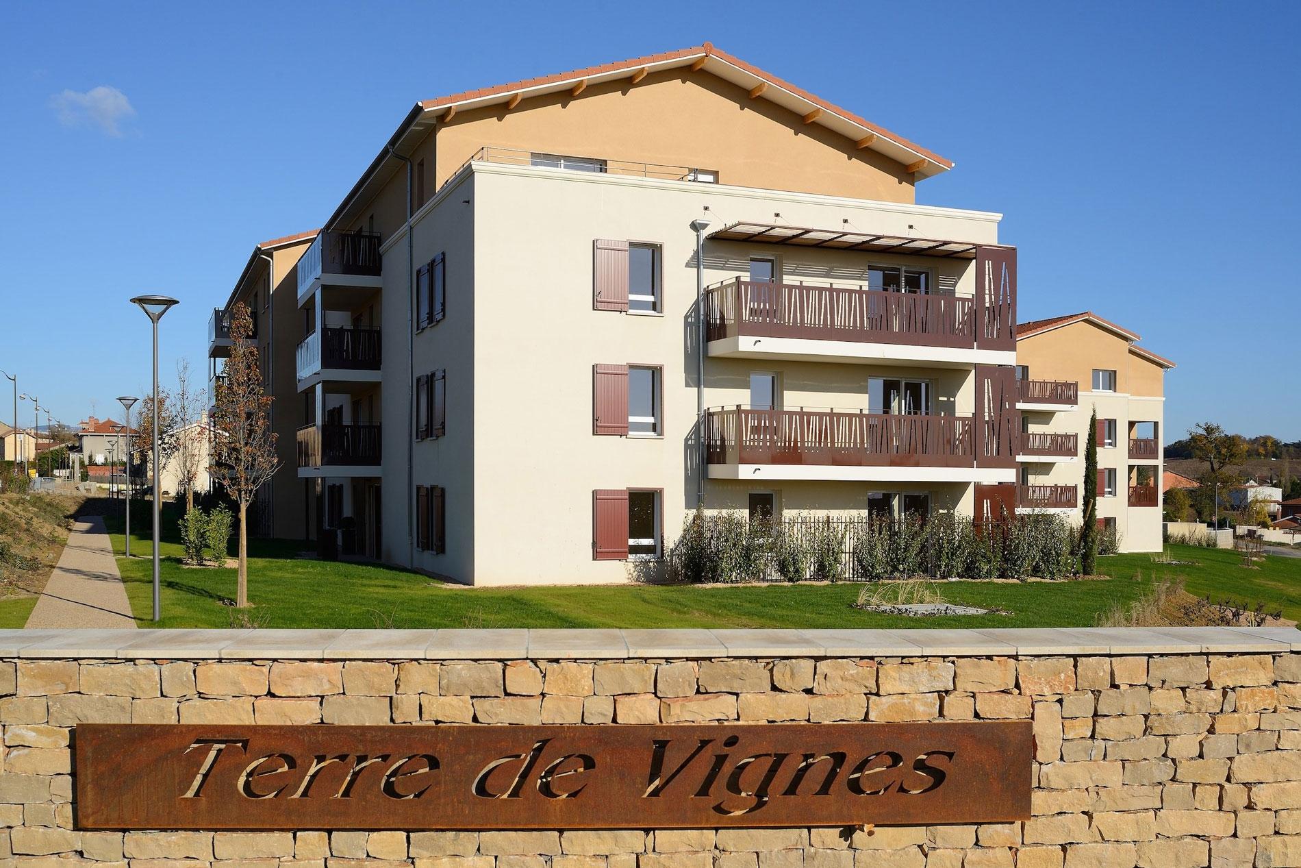 La Résidence Terre de Vignes à Saint Etienne des Oullières